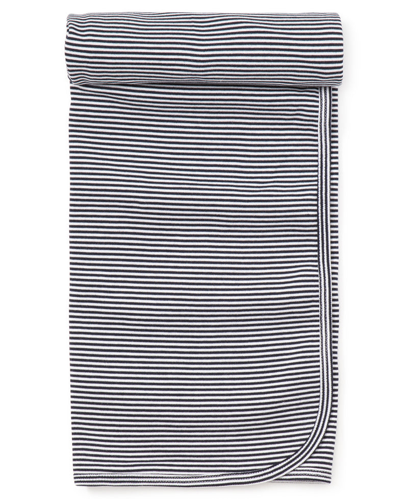 Navy Kissy Essentials Stripe Blanket