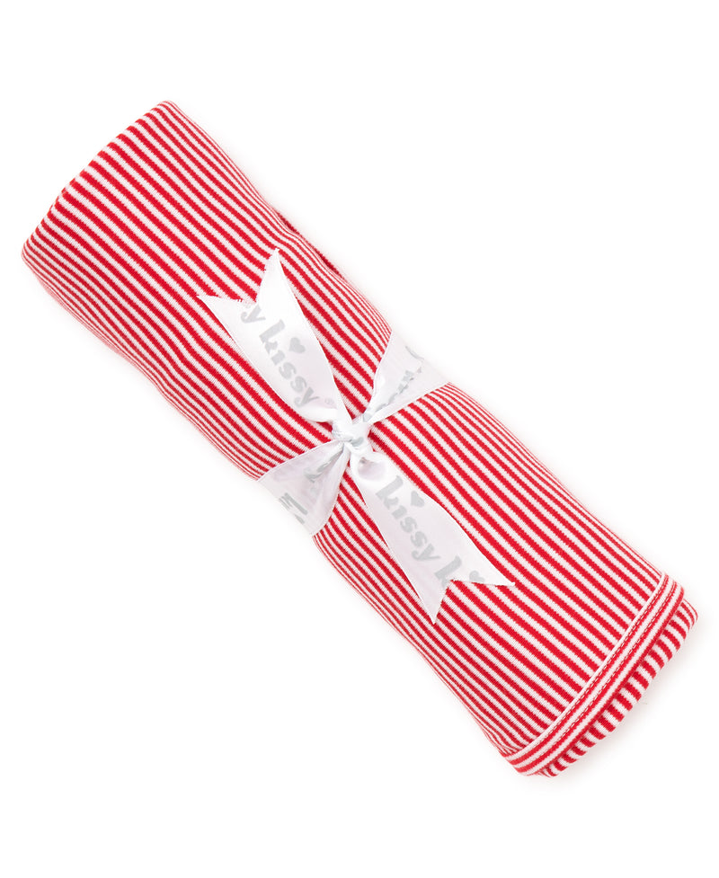 Red Kissy Essentials Stripe Blanket