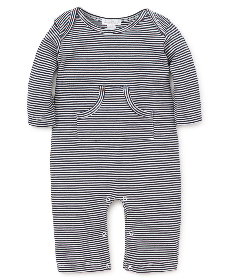 Navy Kissy Essentials Stripe Playsuit