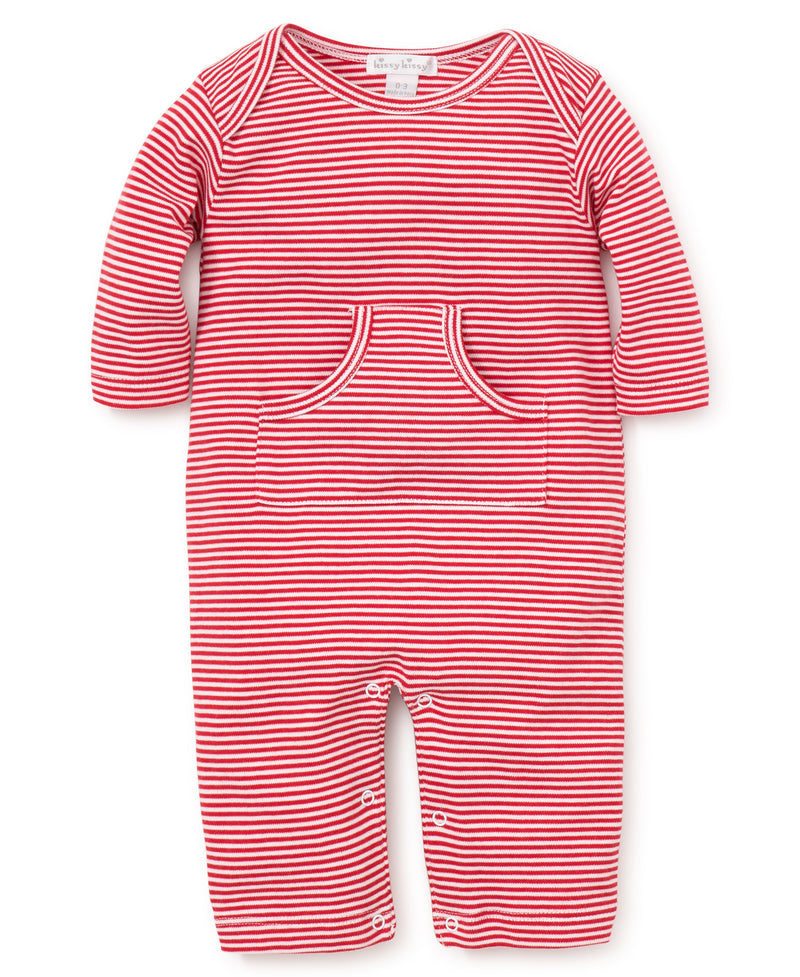 Red Kissy Essentials Stripe Playsuit