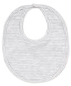 Gray Kissy Essentials Stripe Bib