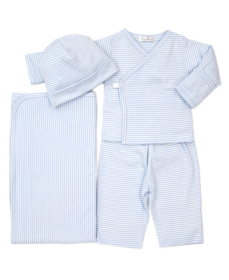 Take Me Home Blue Simple Stripes Bundle Set