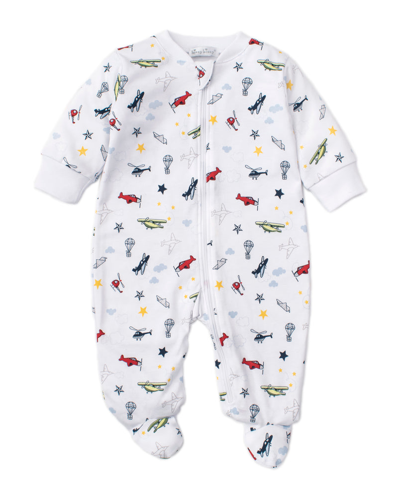 Aviators Print Footie w/ Zip