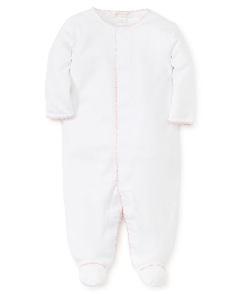 White/Pink New Premier Basics Footie