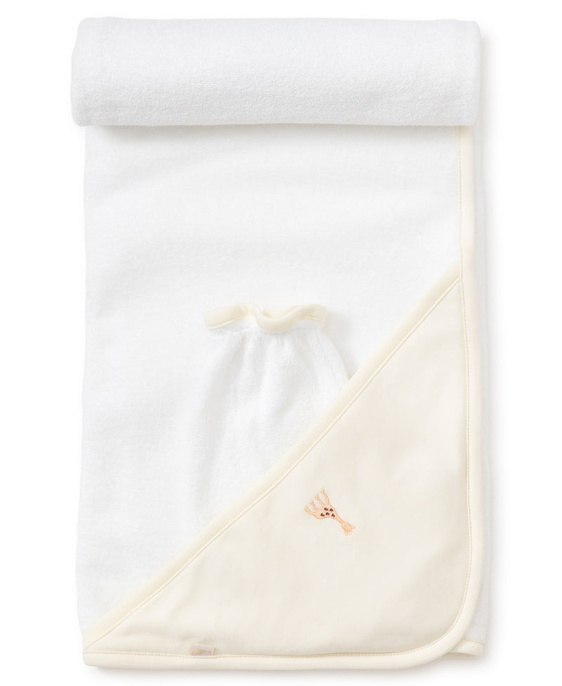 Sophie la girafe Ecru Hooded Towel & Mitt Set