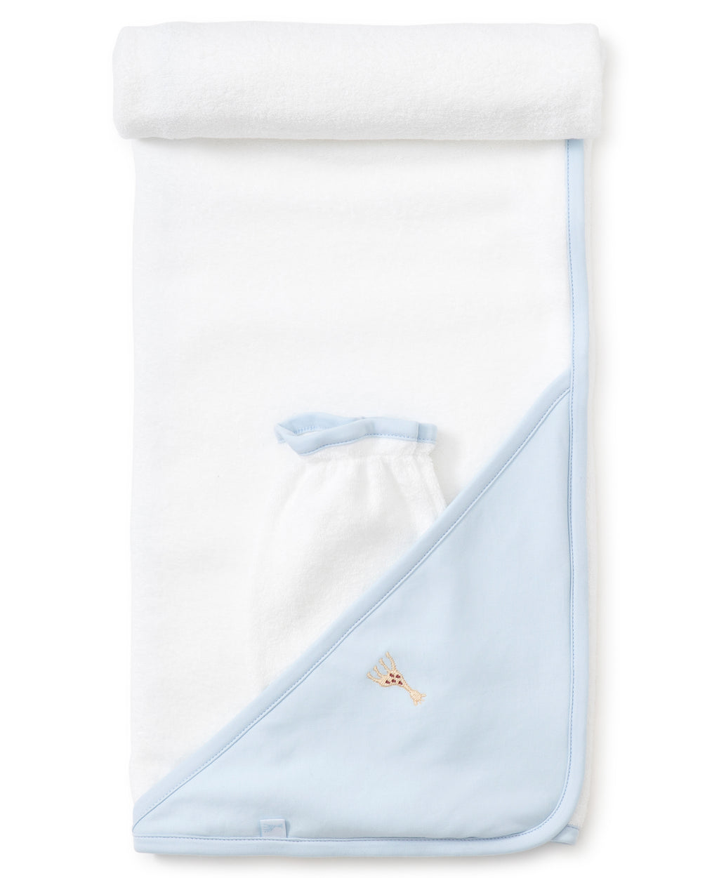 Sophie la girafe Blue Hooded Towel & Mitt Set