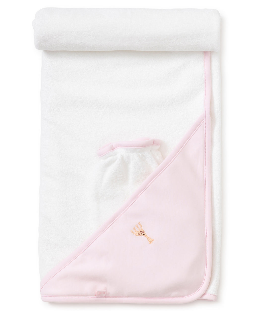 Sophie la girafe Pink Hooded Towel & Mitt Set