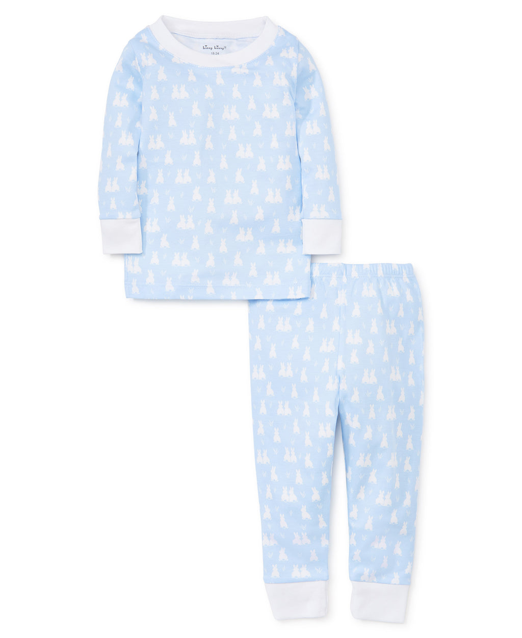 Cushy Cottontails Blue Pajama Set
