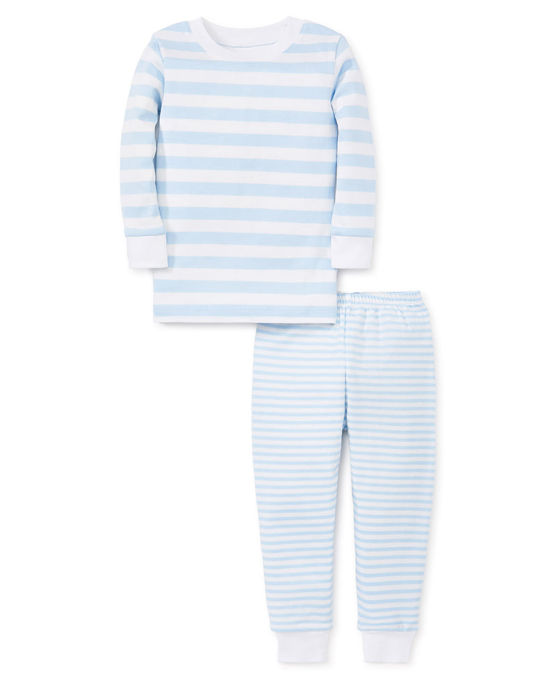 Light Blue Stripes Toddler Pajama Set