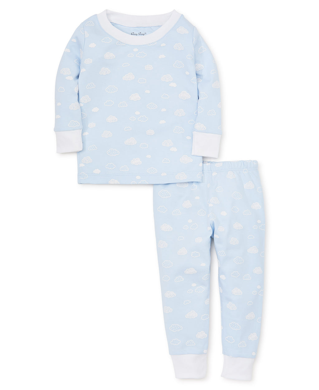 Cotton Clouds Blue Pajama Set