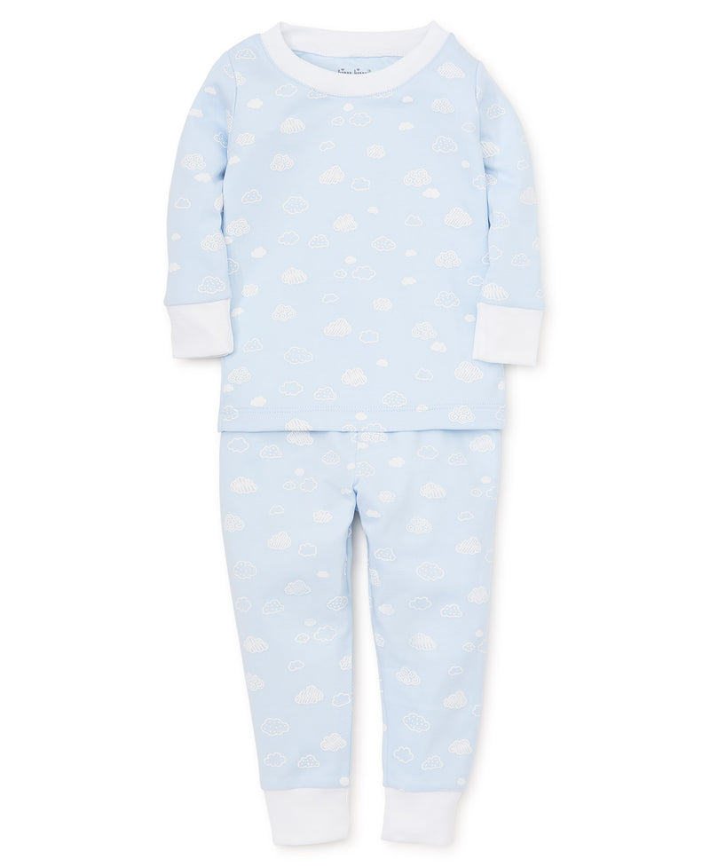 Cotton Clouds Blue Toddler Pajama Set