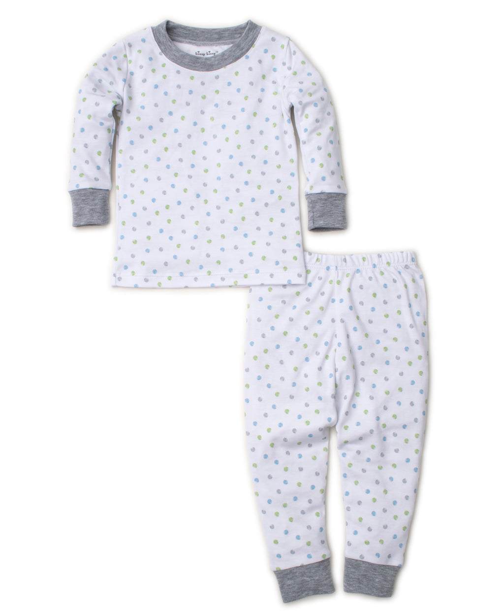 Dapple Dots Gray Toddler Pajama Set |Kissy Kissy