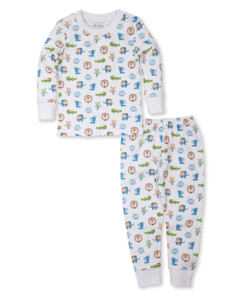 Jungle Antics Print Pajama Set
