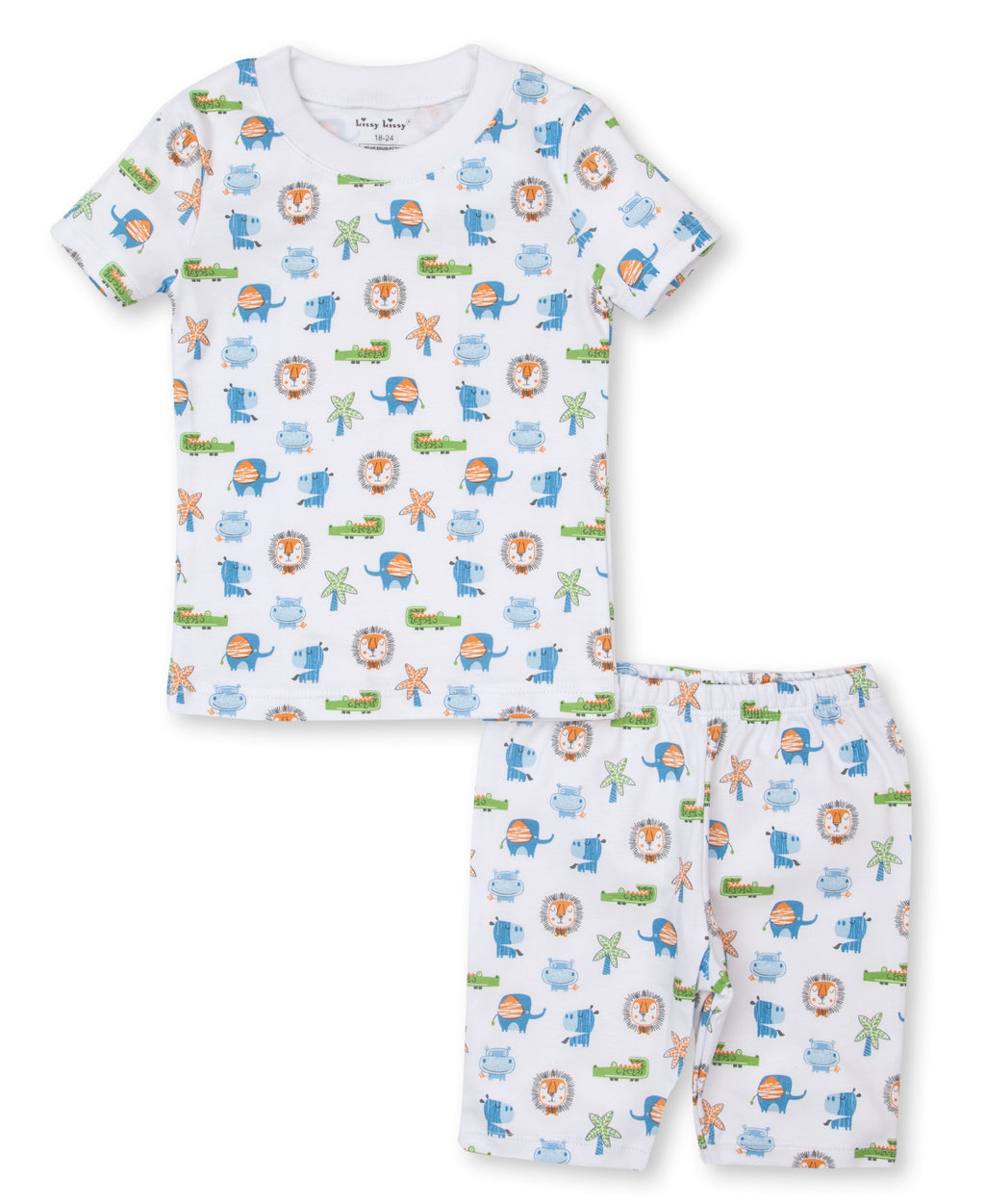 Jungle Antics Pajama Short Set