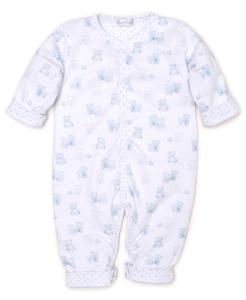 Bear-y Cute Blue Reversible Playsuit