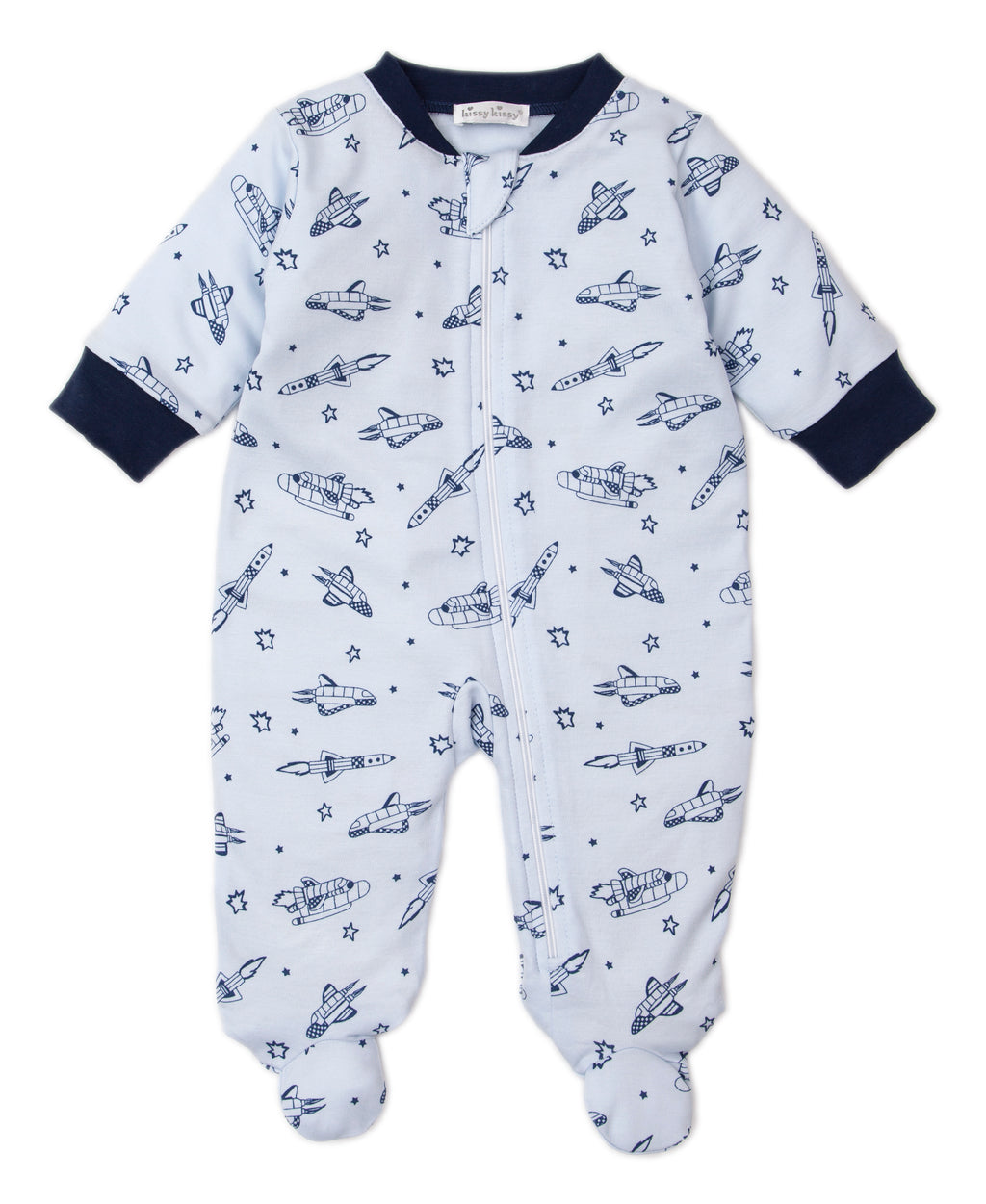Spaceships Print Zip Footie