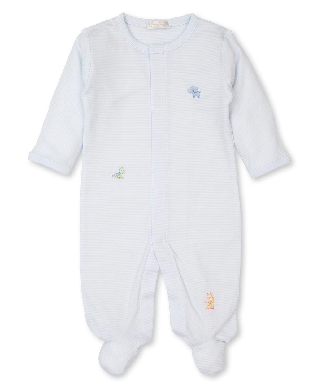 Hand Emb. SCE Jungle Babies Stripe Footie