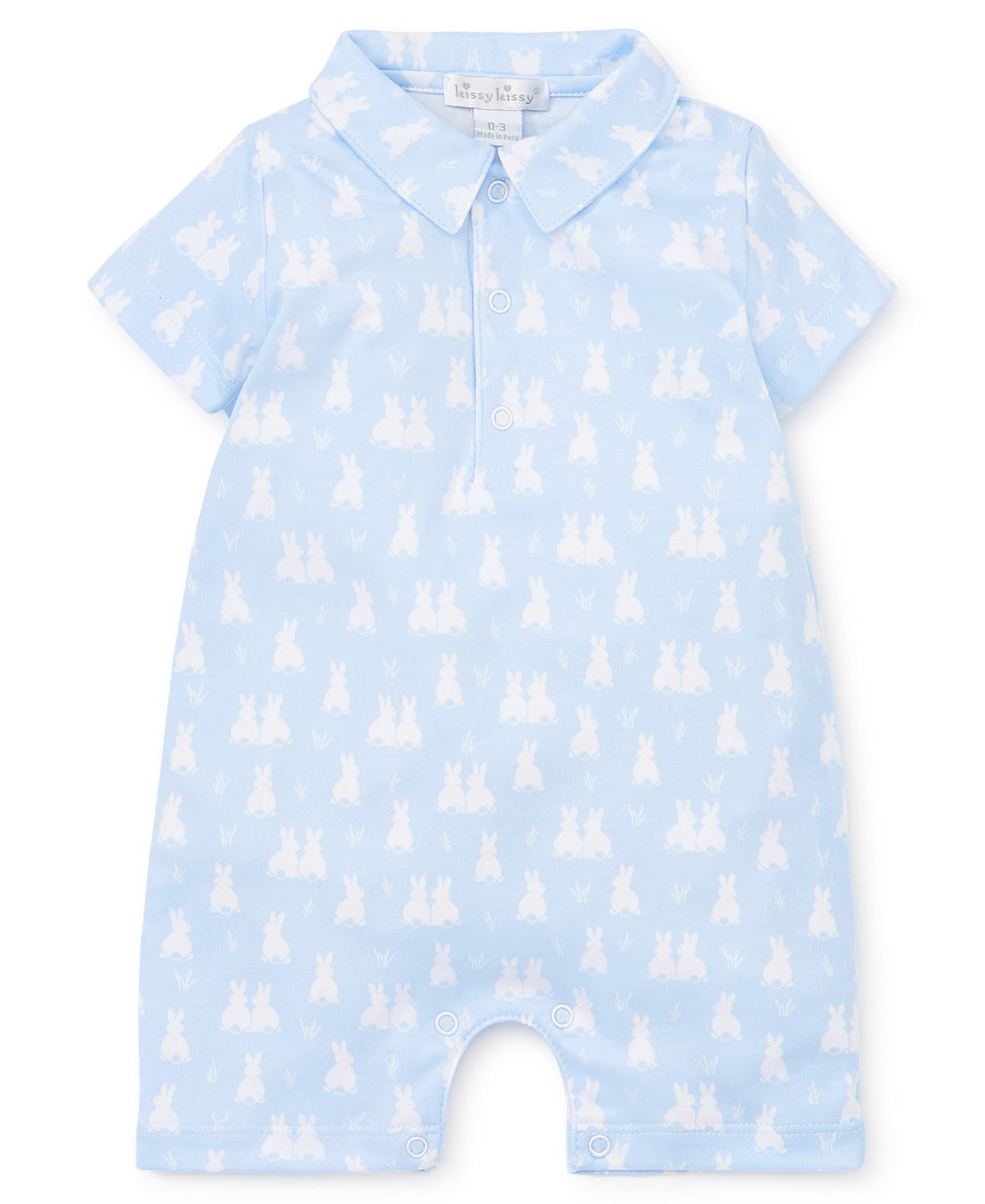 Cushy Cottontails Blue Short Playsuit