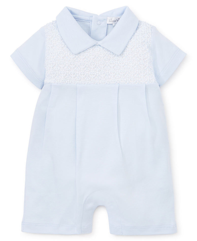 First Impressions Blue Collared Playsuit