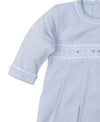 Hand Smocked Premier CLB Fall Blue Sack Gown