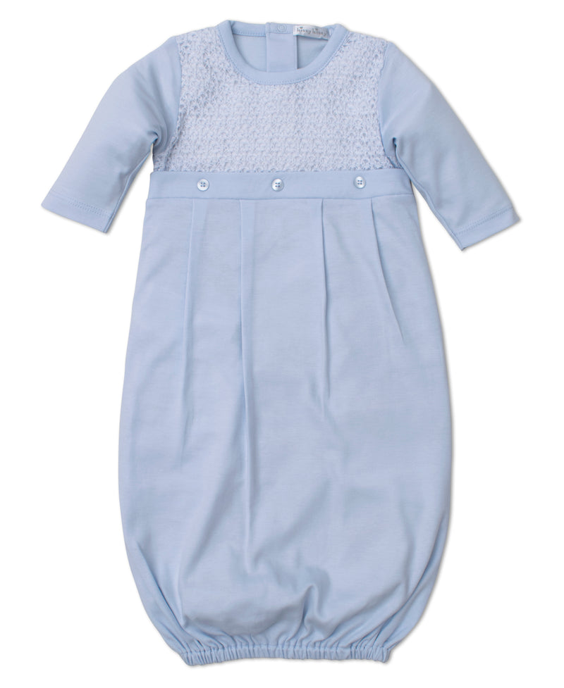 Touch of Elegance Blue Sack Gown with Knit