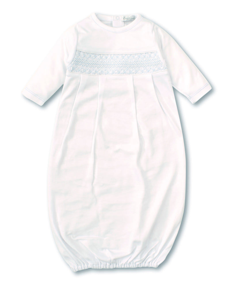Hand Smocked CLB Charmed White Sack Gown