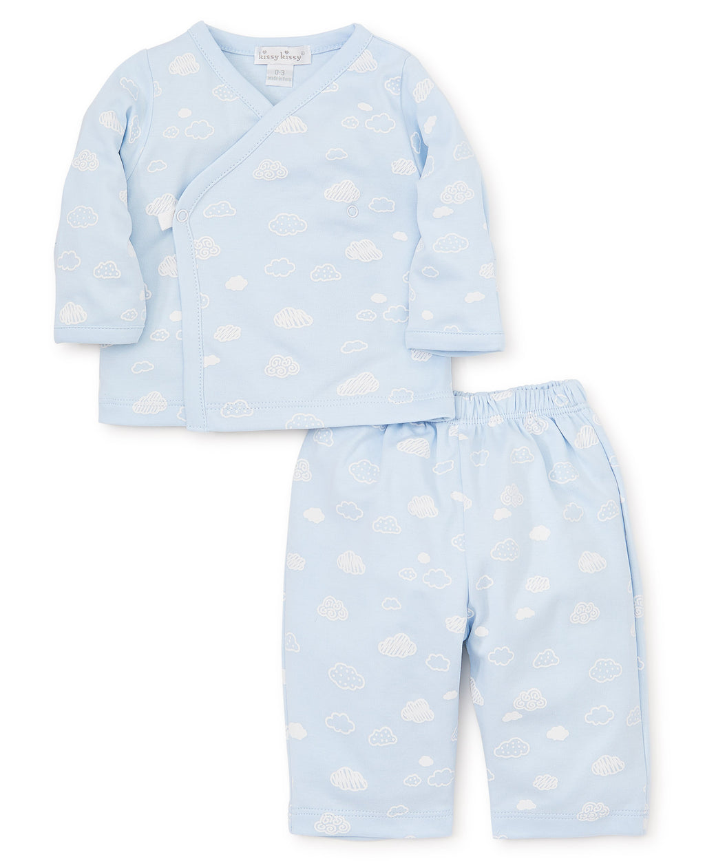 Cotton Clouds Blue Pant Set