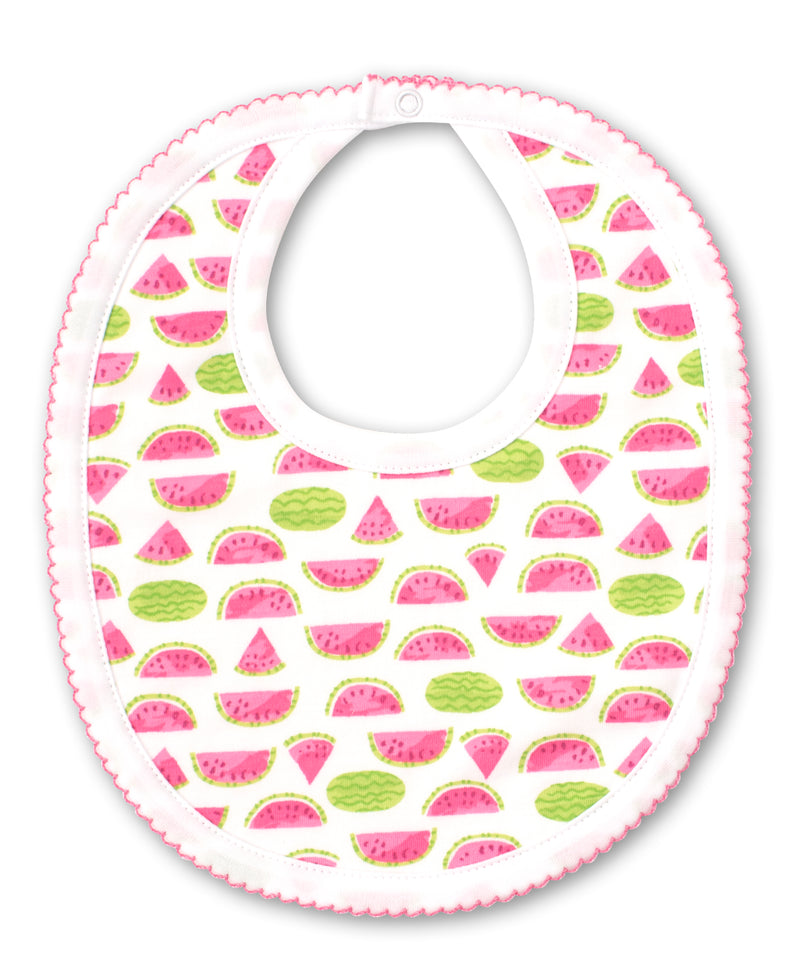 Whimsical Watermelons Print Bib