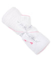 Whales Fuchsia Hooded Towel & Mitt Set