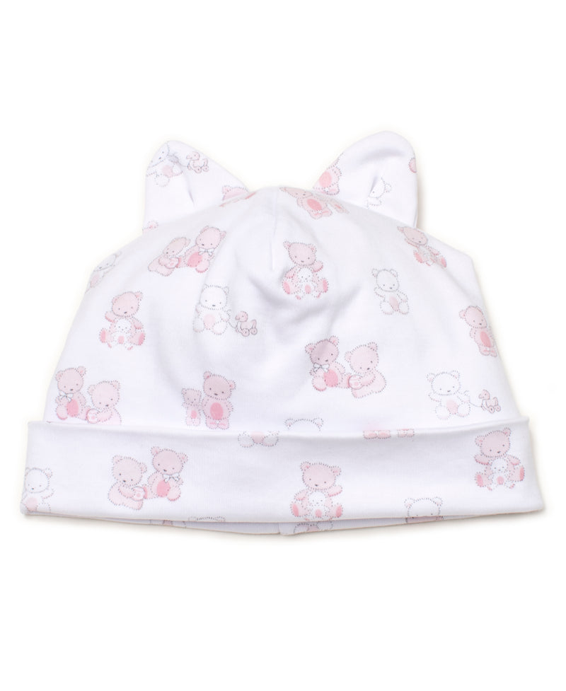 Bear-y Cute Pink Print Hat