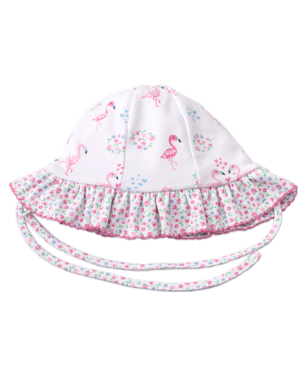 Flowering Flamingos Reversible Floppy Hat