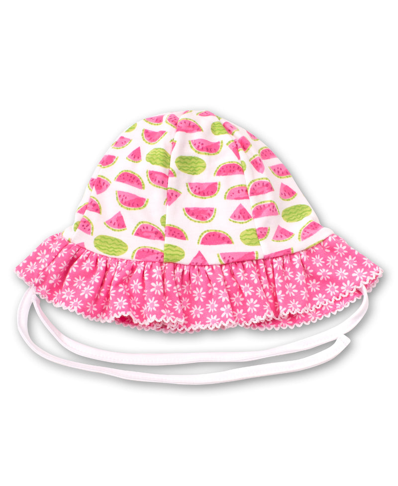 Whimsical Watermelons Reversible Floppy Hat