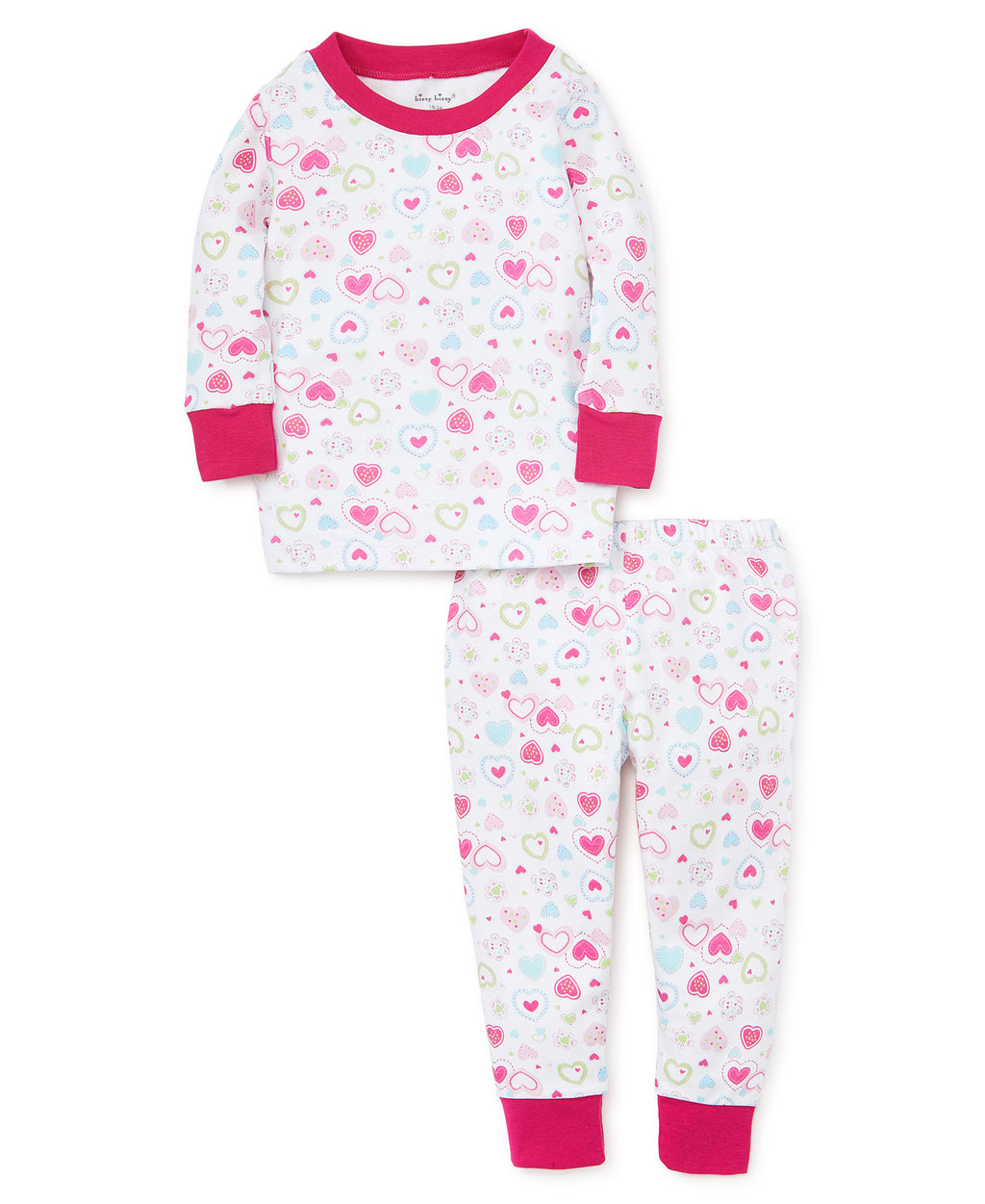Happy Hearts Toddler Pajama Set