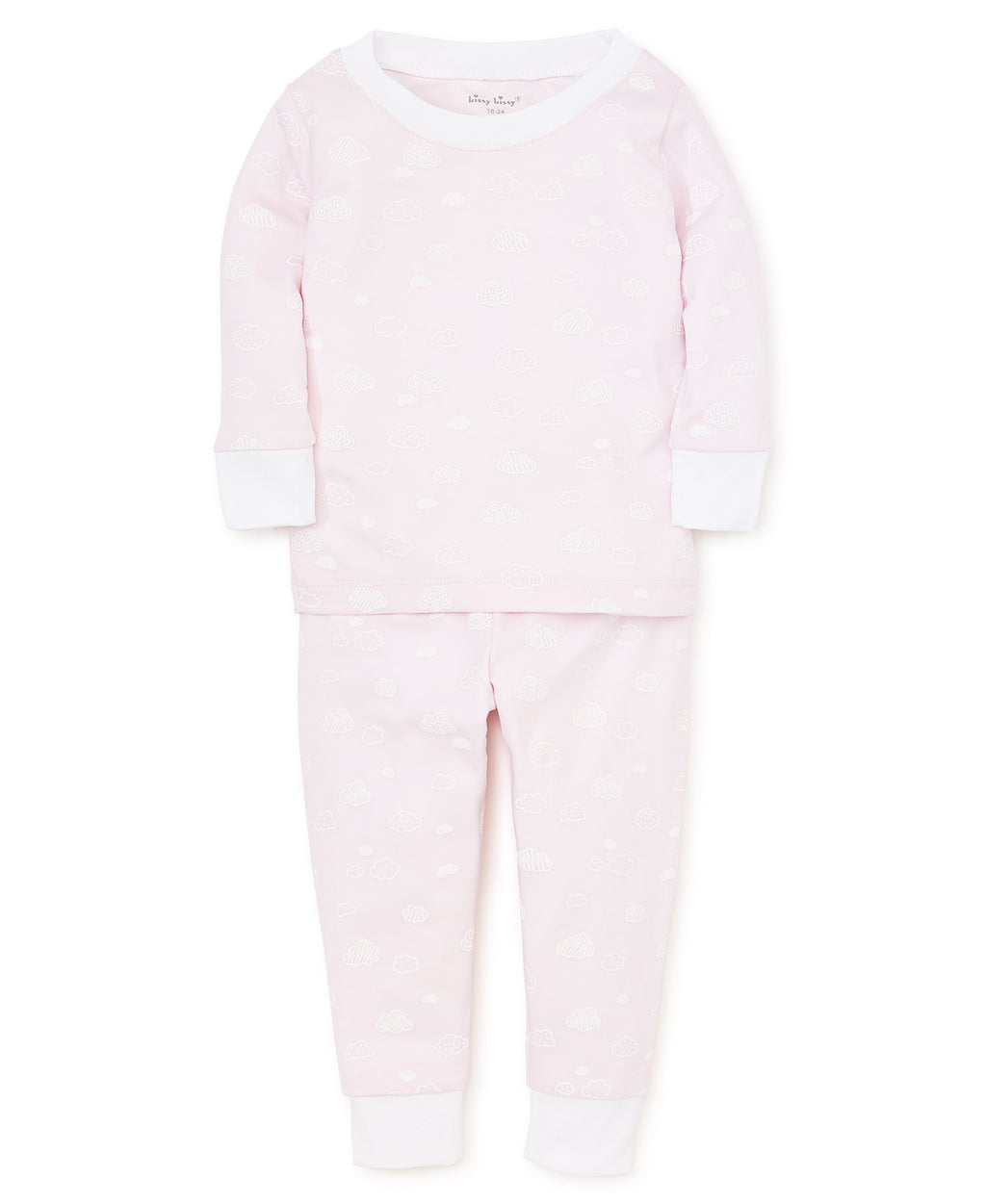 Cotton Clouds Pink Toddler Pajama Set