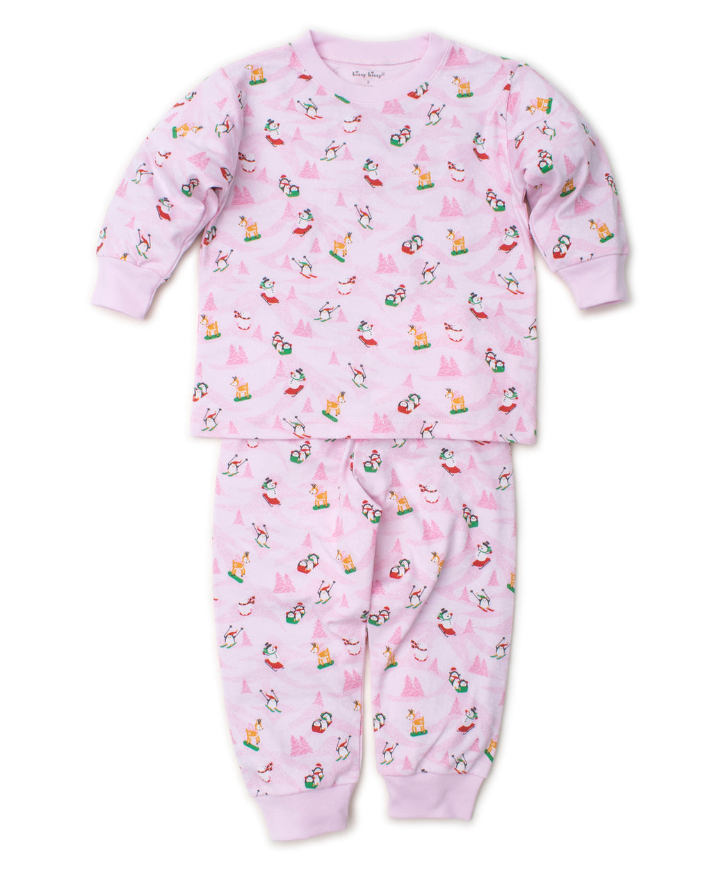 Frosty Friends Pink Toddler Pajama Set
