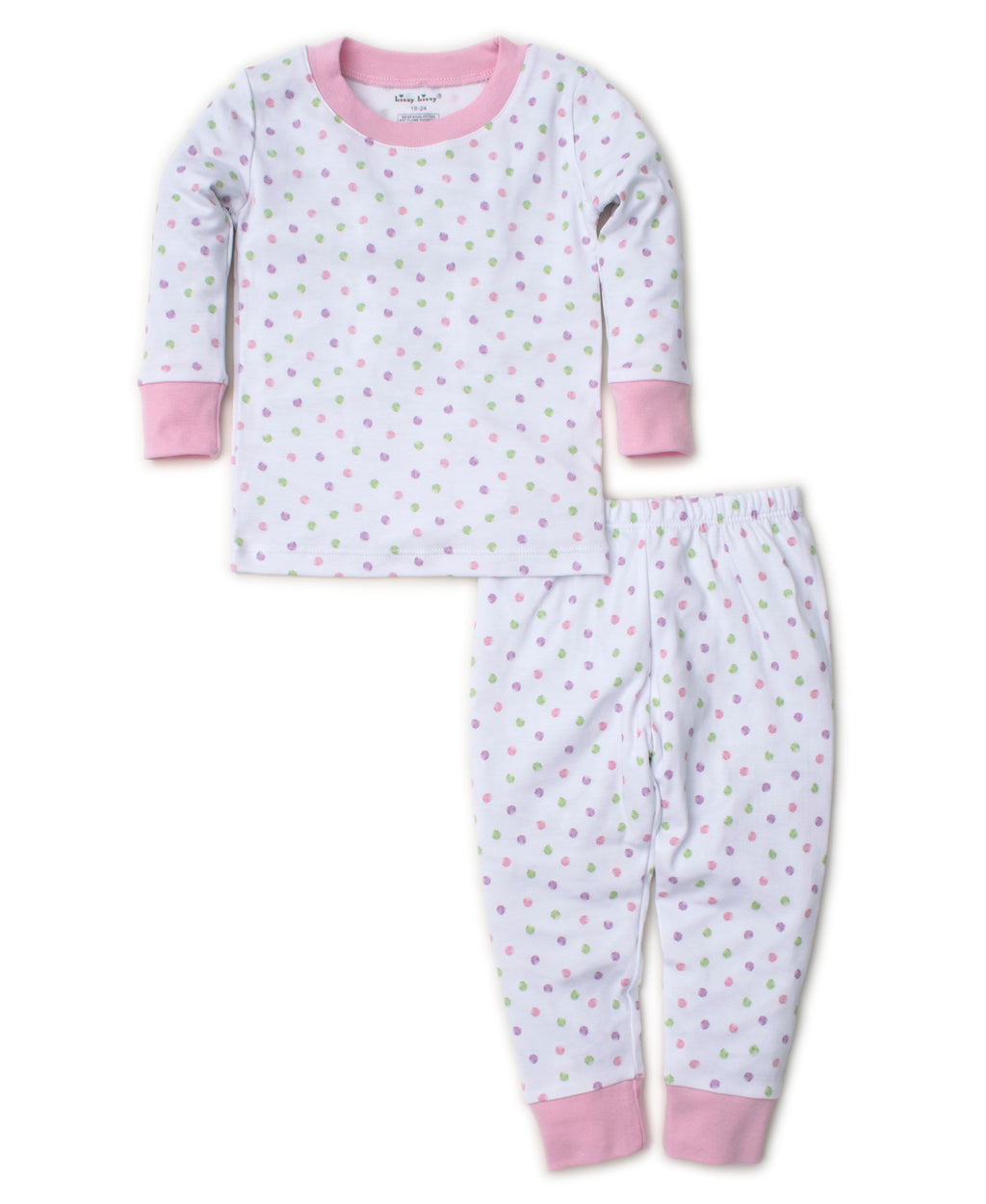 Dapple Dots Pink Pajama Set