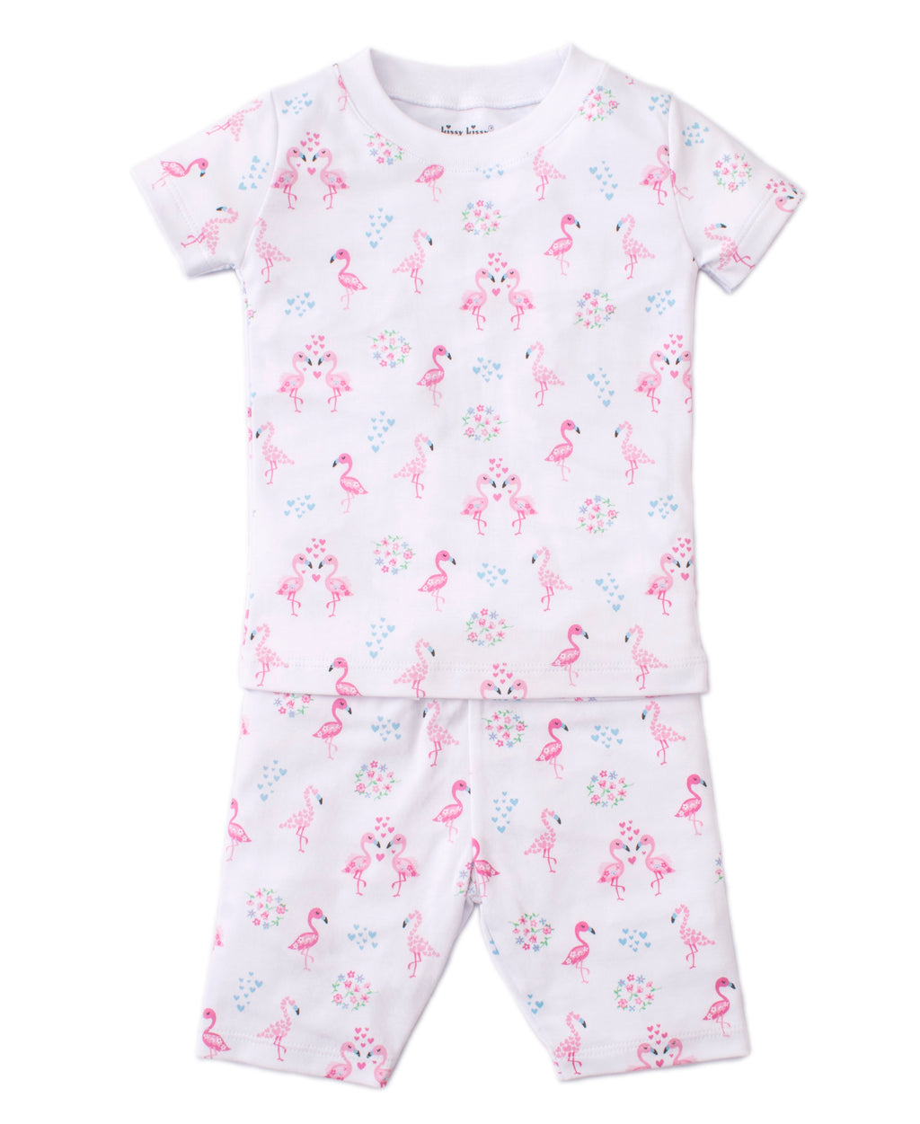 Flowering Flamingos Short Pajama Set