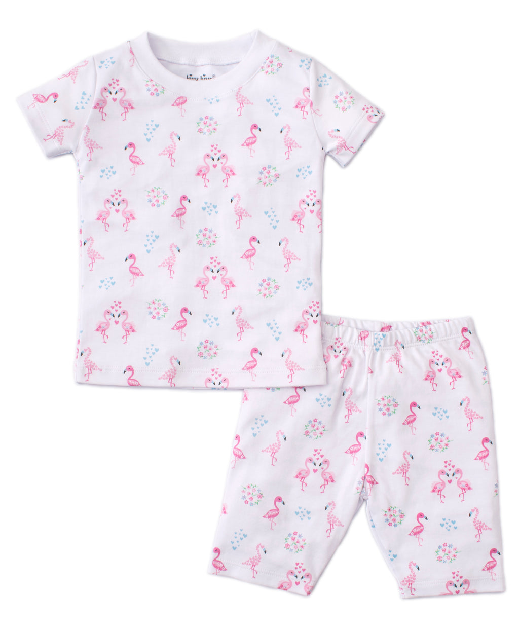 Flowering Flamingos Short Toddler Pajama Set