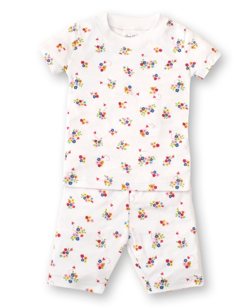 Blue Blossoms Short Toddler Pajama Set