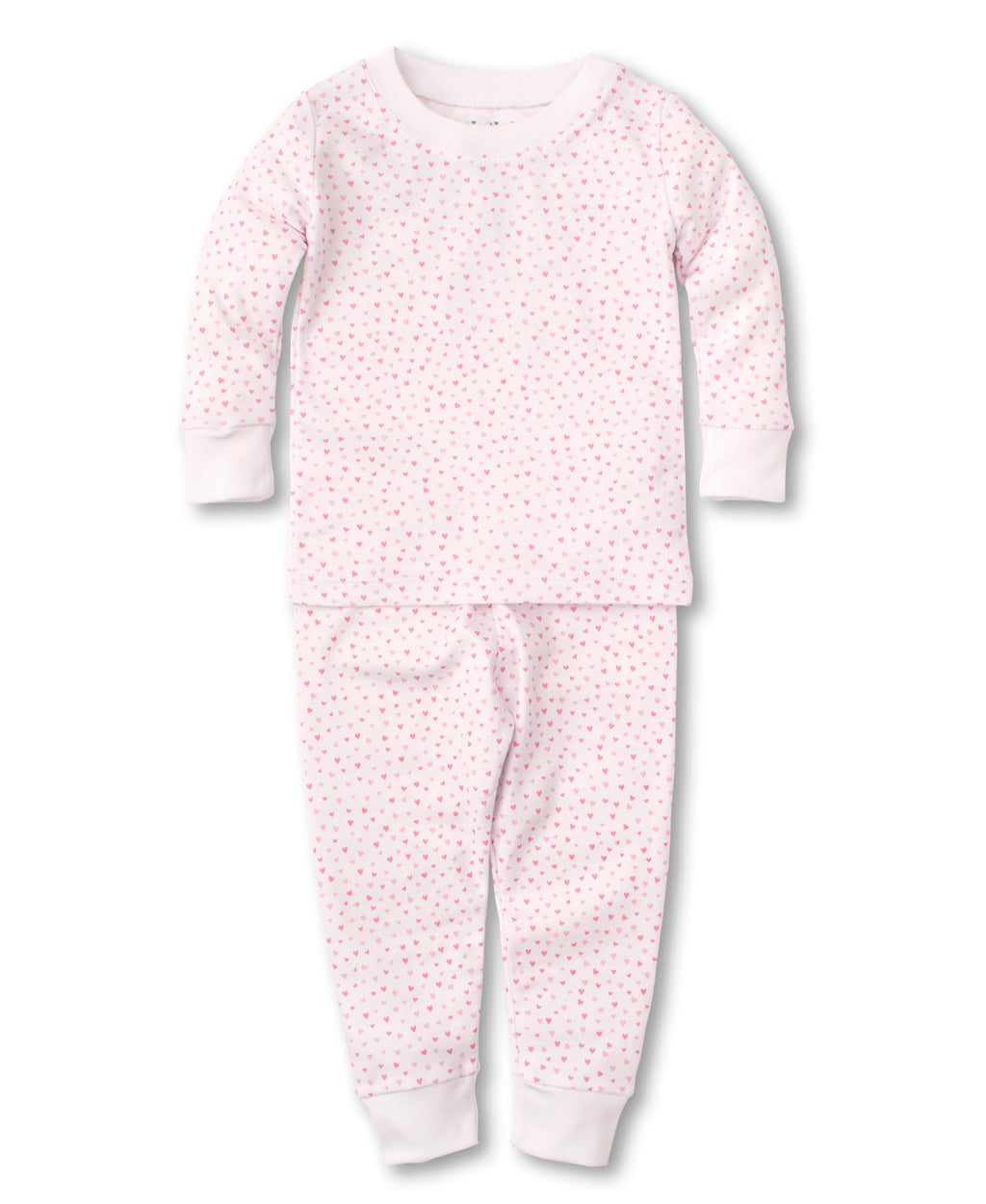 Kissy Sweethearts White Toddler Pajama Set