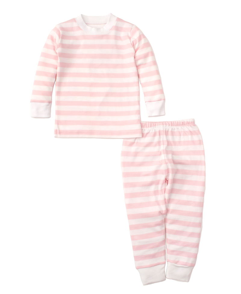 Pink Broad Stripes Pajama Set