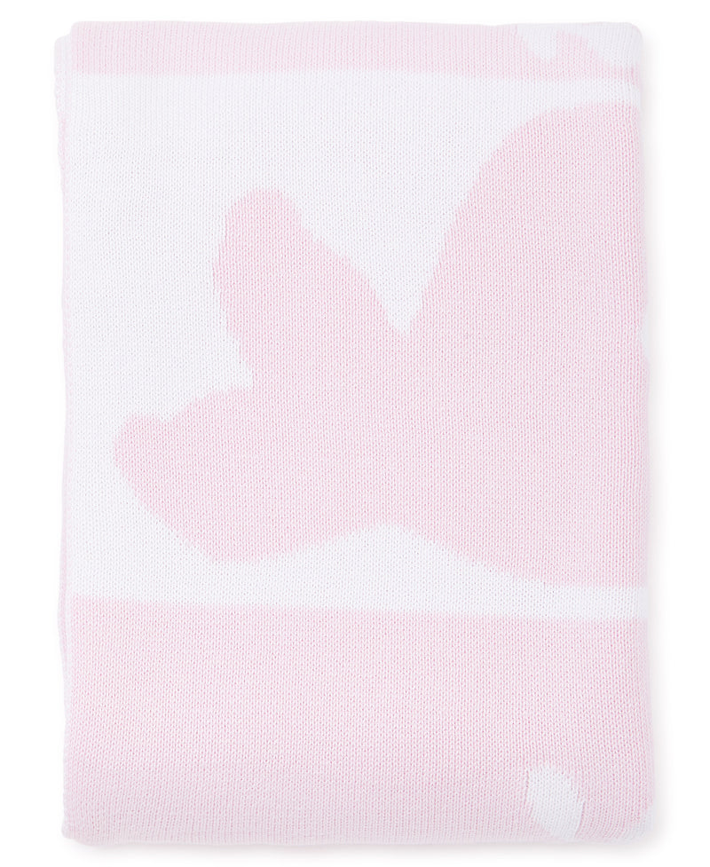 Pink Whales Knit Novelty Blanket