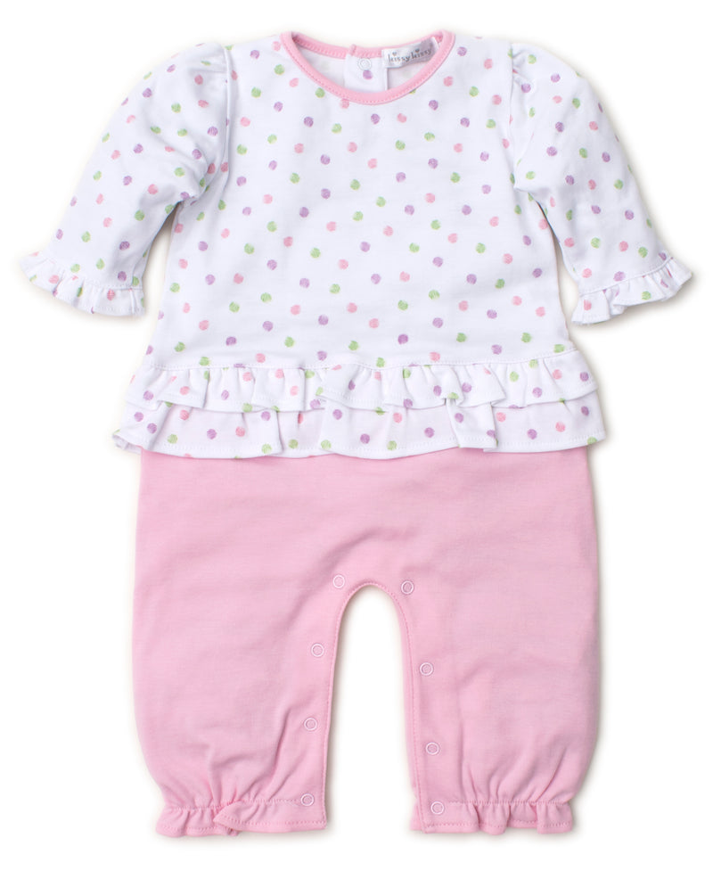 Dapple Dots Pink Playsuit