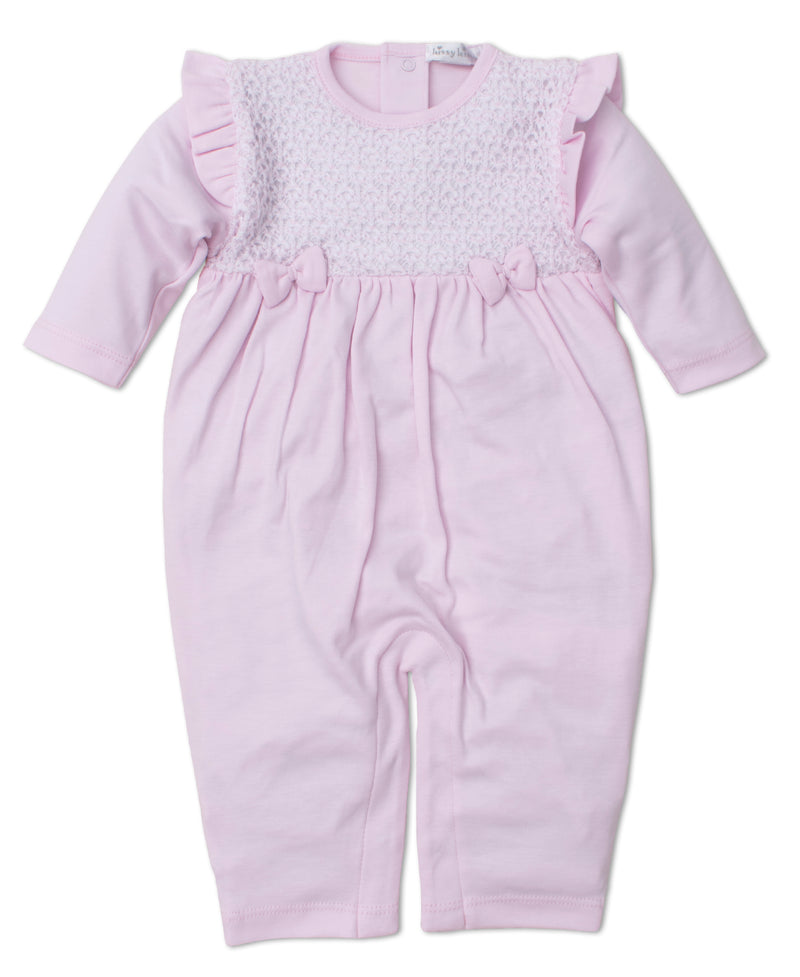 Touch of Elegance Pink Playsuit with Knit