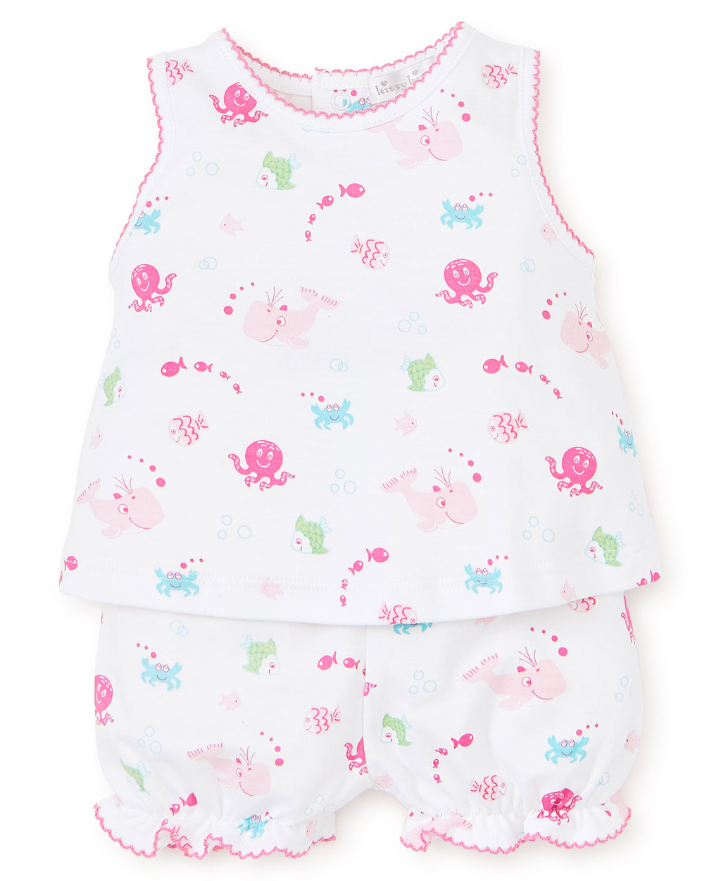 Under The Sea Fuchsia Print Sunsuit Set
