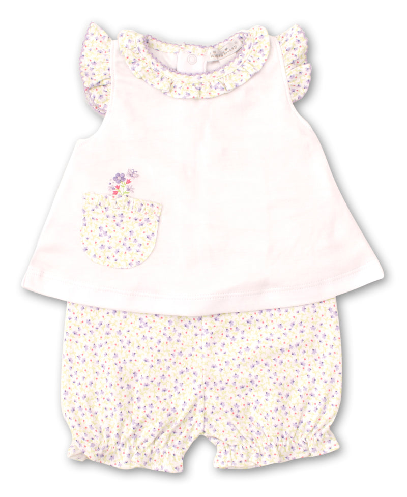 Spring Whispers Lilac Sunsuit Set