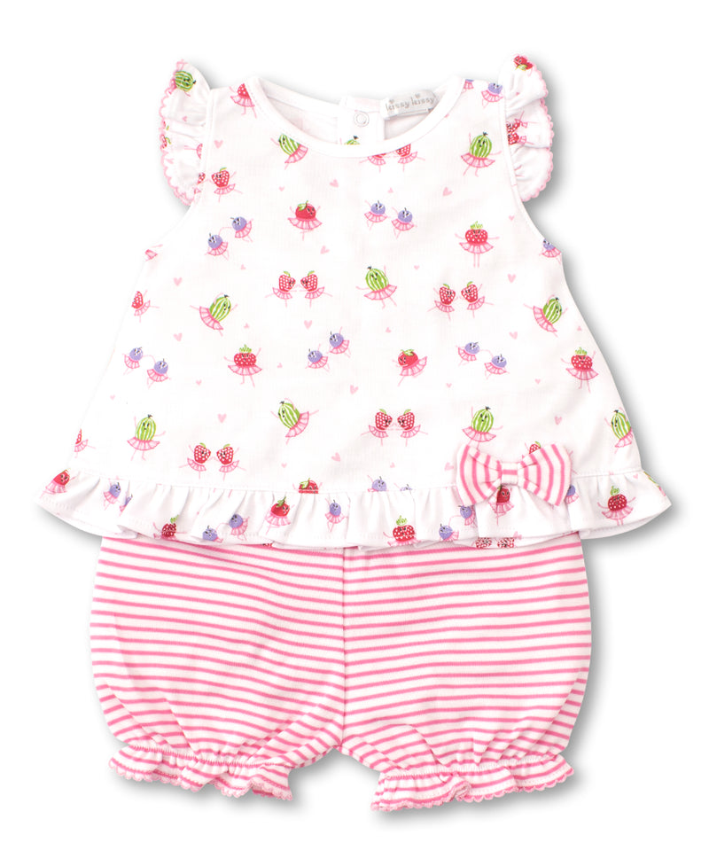 Berry Ballet Sunsuit Set