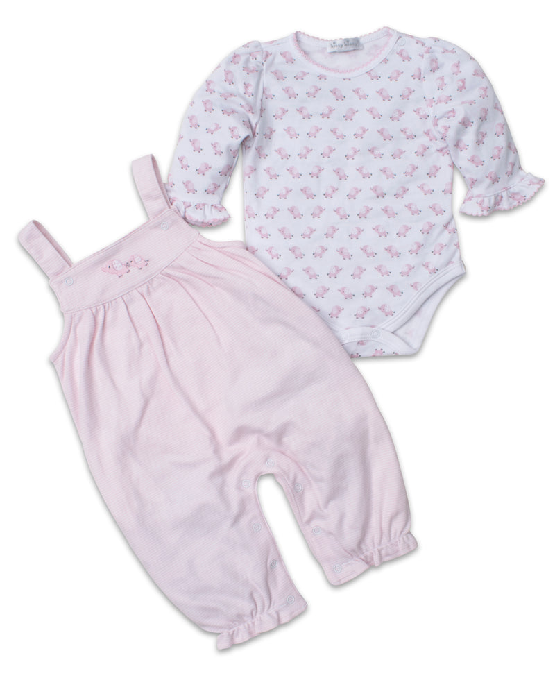 Baby Trunks Pink Overall Set