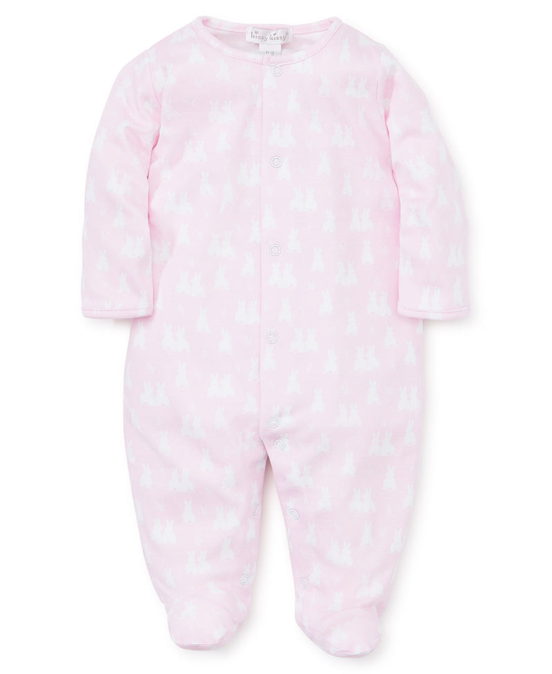 Cushy Cottontails Pink Footie