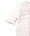 Kissy Sweethearts White Ruffle Footie